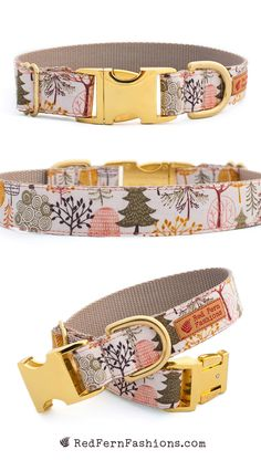 Pink Dog Collar for Girls - Fall Trees Fabric and Nylon Collar Pink Dog Collars, Cute Dog Collars, Diy Dog Collar, Dog Collars & Leashes, Dog Accesories, Pet Accessories, Pet Dogs, Pets, Girl And Dog