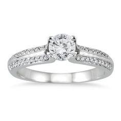 5/8 Carat TW Diamond Engagement Ring in 14K White Gold