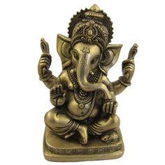 Amazon.com: Statue of Hindu Ganesh Indian Brass Metal Sculptures 3.75 X 3.25 X 6 Inches: Furniture & Decor