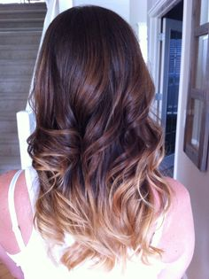 Ombre hair was so huge for me last year. It was the first time I had ever dyed my hair! I think this simple dark brown to honey blond color is a great way to ease into the hair dyeing game. - ANN