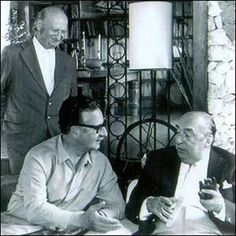 Salvador Allende, Volodia Teitelboim and Pablo Neruda Pablo Neruda, Victor Jara, Contemporary History, Famous Pictures, Ap Spanish, World Literature, Fidel Castro, Writers And Poets, Culture Club