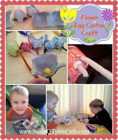 Egg Carton Flower Crafts for Easter & Spring