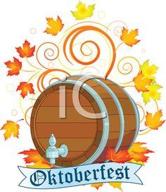 Oktoberfest Clipart - Barrel of Beer