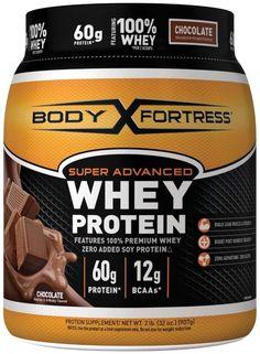 Body Fortress Whey Protein Powder Super Advanced Sport Chocolate Drink Shake 2lb #BodyFortress