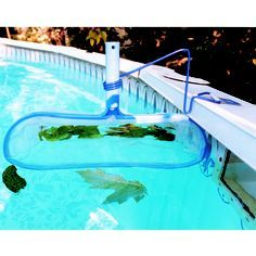 Skimeeze Pool Skimmer- Pool Net Skimmer Cleans Debris and Leaves for In-Ground and Above Ground Pools