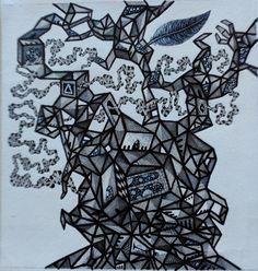 L.A.S.D.I. Técnica mixta sobre papel. 21x29,7cm. 2013