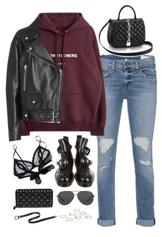 """""""Sem título #5234"""" by fashionnfacts ❤ liked on Polyvore featuring rag & bone, Acne Studios, Balenciaga, Only Hearts, Michael Kors, Boohoo and Valentino"""