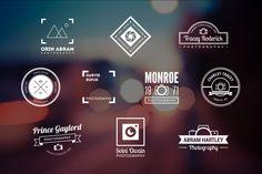 10 Photography Logos Vol. 15 by Piotr Lapa on Creative Market