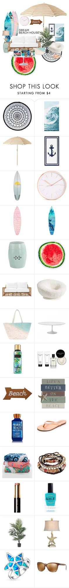 """Beach"" by u8278 ❤ liked on Polyvore featuring interior, interiors, interior design, home, home decor, interior decorating, You, Me and the Dream, PBteen, Pottery Barn and Nordstrom Rack"