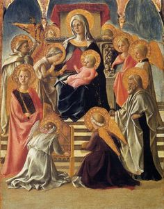 TICMUSart: Madonna and Child Enthroned with Saints - Filippo Lippi (1430) (I.M.)