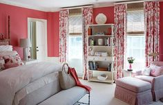 """Wall colorWall paint (""""Coral Essence"""" #2007-40); ceiling paint (""""Opal"""" #OC-73): Benjamin Moore & Co., 888/236-6667, benjaminmoore.com. Before and After: Classic Home Updated - Traditional Home"""
