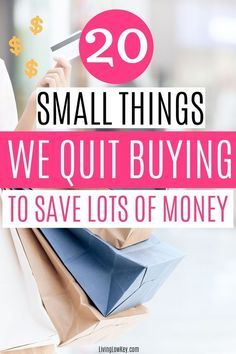 20 Things I Simply Stopped Buying To Save Money - - What if I told you my biggest secret to saving money was to stop buying. Yes, I stopped buying to save money! Stop buying these 20 items and save thousands. Saving Money Quotes, Best Money Saving Tips, Money Tips, Save Money On Groceries, Ways To Save Money, Groceries Budget, Budgeting Finances, Budgeting Tips, Money Plan