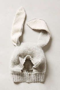 Anthropologie - Bunny Ears Hat