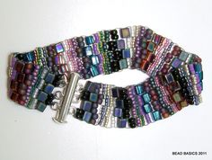 Rags to Riches Bracelet - This fun bracelet uses odds & ends of seed beads left over from other projects!