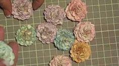 Handmade paper flowers!, via YouTube.