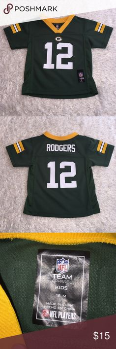 Aaron Rodgers Baby Jersey Size 18 mths! In excellent condition! Support your favorite football team! Go Green Bay! NFL Shirts & Tops