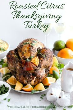 Herb-Citrus Roasted Thanksgiving Turkey - a fool-proof way to make your Thanksgiving Turkey that turns out perfectly EVERY TIME! #thanksgiving #turkey #howtocookaturkey #holidays Turkey Recipes, Paleo Recipes, Dinner Recipes, Dinner Ideas, Paleo Dinner, Delicious Recipes, Chicken Recipes, Healthy Thanksgiving Recipes, Thanksgiving Turkey