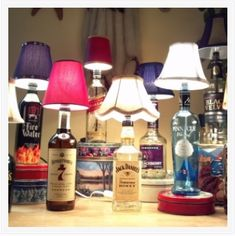 DIY Liquor Bottle Lamps | Daily Living Brief