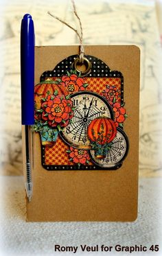 Steampunk Spells - altered notebook #notebook #graphic45 #steampunk