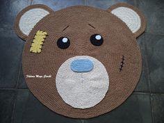 Fátima Moya Crochê: Tapete Urso