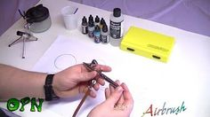 Learn some great tips for using an airbrush for beginners. OrcPainterNerd put together two videos on using an airbrush to paint your miniature.