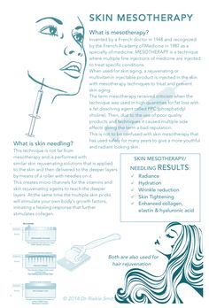 Skin mesotherapy - a natural, safe and effective way to prevent and reverse skin aging