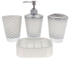 This four piece bathroom set includes a Soap Dish, Lotion Dispenser, Toothbrush Holder and a Tumbler. Includes: 1 x Toothbrush Holder 1 x Soap Dispenser 1 x Tumbler 1 x Soap dish. Colour: Beige Cream. | eBay!