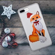 This cute Christmas fox phone case is perfect for your iPhone!  The perfect way to protect you phone this Christmas season! Find it at www.lumisadesign.nl