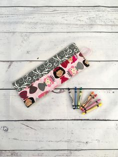 Crayon Roll Up, Kids Gifts, Crayon Holder, Crayon Case, Gift Ideas for Girls, Crayon Storage, Travel Games, Kids Party Favor, Crayon Holder by SewSisterStudio on Etsy