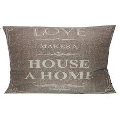 Love Makes a Home Throw Pillow