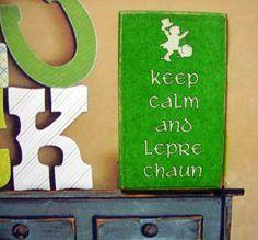 Irish Keep Calm... Miniature Wooden Plaque by LeClosDesLavandes