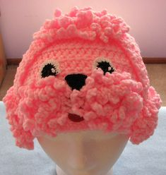 Pink Poodle Hat Crochet Pattern by DonnasCrochetDesigns on Etsy, $1.99