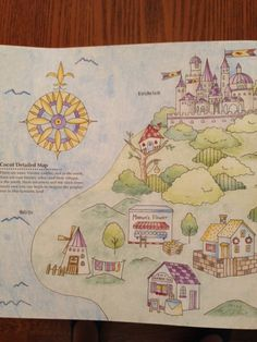 From Romantic Country By Eriy. This is half of one of the map pages.