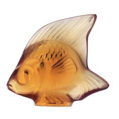 Lalique Fish Figure Amber