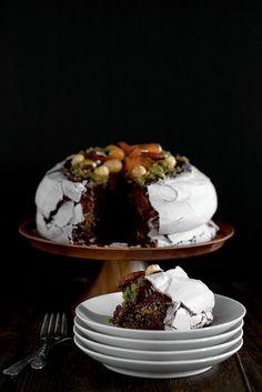 Chocolate Pavlova....