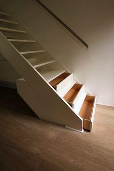 Stair #storage / Drawers great for seasonal storage.