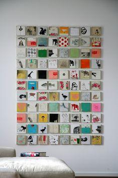 Wunderbare Arbeit! Auch mit kleinen Kindern möglich  Michael CutlipGrid Work | Michael Cutlip   - nice way to display an array of tiny canvases