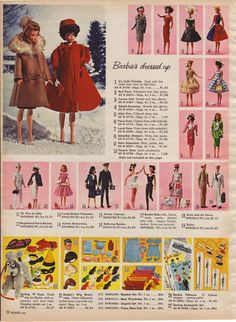 Barbie dolls from the 1964 Sears Christmas catalog - Found in ...