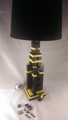 Batman Themed LEGO Lamp for your bedroom by BrickABlocks on Etsy, $99.49