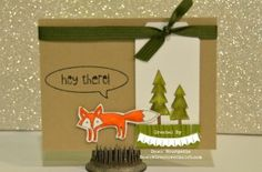 What does the fox say? Life in the Forest and Just Sayin Stamp sets. Using Blendabilities! Love these! Dawn Bourgette - Dawn's Creative Chalet  http://www.dawnscreativechalet.stampinup.net #stampinup #papercrafting #handstamped #blendabilities #cardmaking #diy #crafts #color #dawnscreativechalet #fox #flieintheforest #justsayin