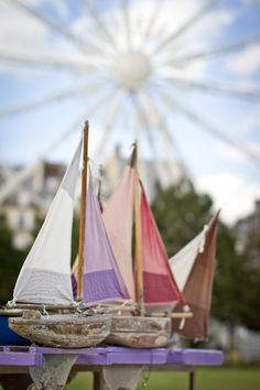 Jardin des Tuileries, Paris - Summer Boats for the Pond (by Haleigh Walsworth) Shabby Chic Campers, Jardin Des Tuileries, Tuileries Paris, Belle Villa, Set Sail, Beach Crafts, Sea Shells, Countryside, Pond