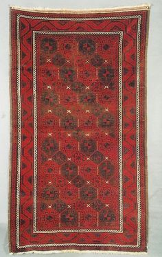 19th century Baluch rug. The size is about 3x6 and the condition is wonderful.
