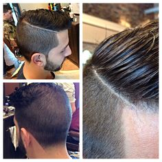 Undercut combover with a taper and hard part Undercut Combover, Pompadour Fade Haircut, Undercut Hairstyles, Men's Pompadour, Medium Hairstyles, Natural Oils For Skin, Hair Trends 2015, Cool Hairstyles For Men, Wedding Hairstyles