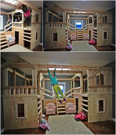 10 Cool DIY Bunk Bed Ideas for Kids: how to be the coolest parent ever, though odds are slim that I would build this...