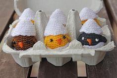 Amigurumi chicks by @marisa kraftcroch