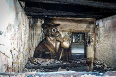 urbex art and graffit in abandoned hangars karlshorst, berlin Graffiti Wall Art, Street Art Graffiti, Urbane Kunst, Abandoned Factory, Berlin Berlin, Berlin Germany, Abandoned Places, Urban Art, Lost