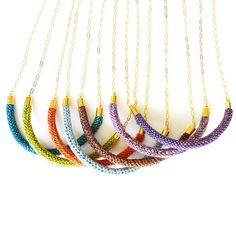 Gold Purl Pendant Necklace Großartig! Und gar nicht schwer zum Nachmachen!