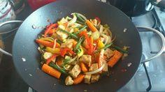 Veggie + tofu stirfry
