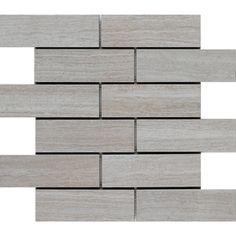 Style Selections 12-in x 12-in Leonia Silver Glazed Porcelain Listello Tile (Kitchen Back Splash??)