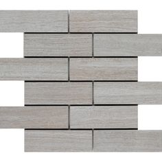 Style Selections 12-in x 12-in Leonia Silver Glazed Porcelain Listello Tile